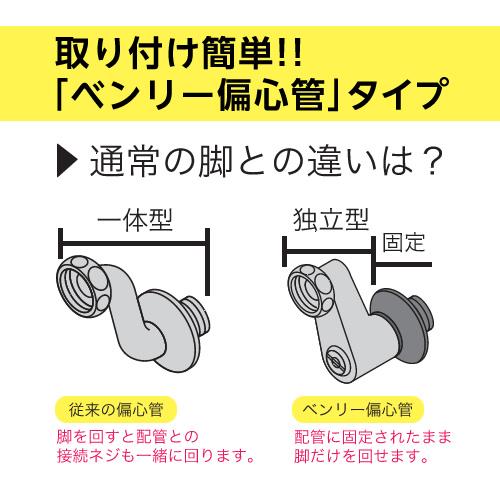 取り付けが簡単にできる「ベンリー偏心管」タイプ