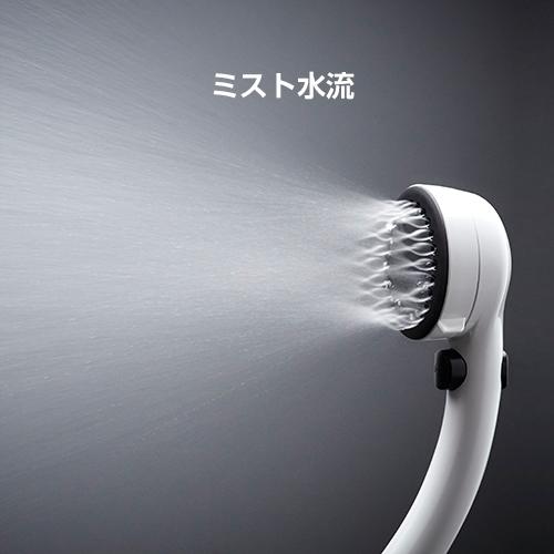 ミストの微粒子で洗顔時の洗い残しを防ぐ