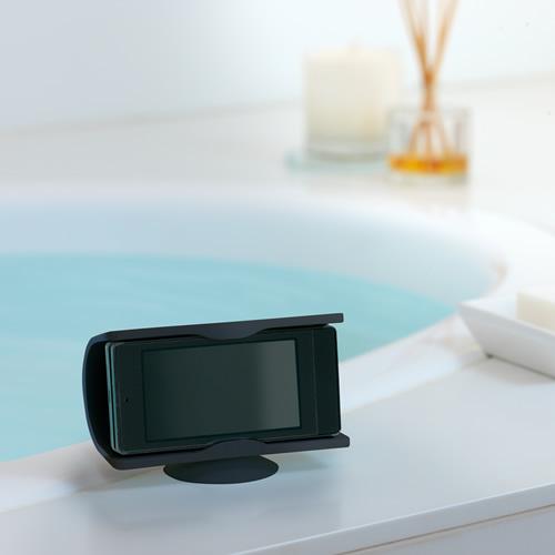 バスルームでワンセグや動画を楽しめます