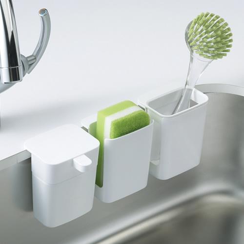 シリーズで揃えると、キッチン小物をきれいに収納できます