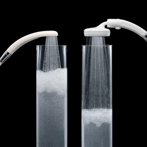 従来シャワーに比べ、約45%の節水